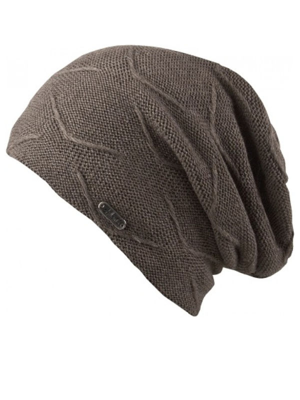Beanie Courtney, met fleece, walnoot - (winter) chemo muts / alopecia muts