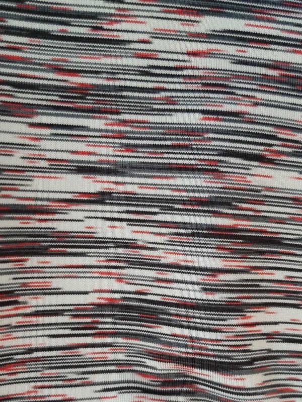 Beanie Helli zwart-rood met UV-Bescherming - chemo mutsje / alopecia mutsje