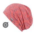 chemo mutsjes dames mooi hoofd - Beanie Helsinki roze/grijs met UV-Bescherming