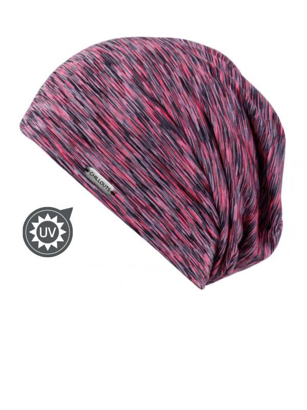 Chemo mutsjes Mooi Hoofd - Beanie Helsinki zwart/roze met UV-Bescherming