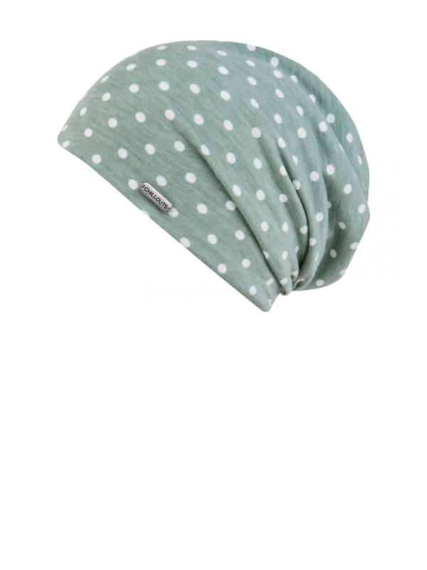 Beanie Lucy green - goedkoop chemo mutsje / alopecia mutsje