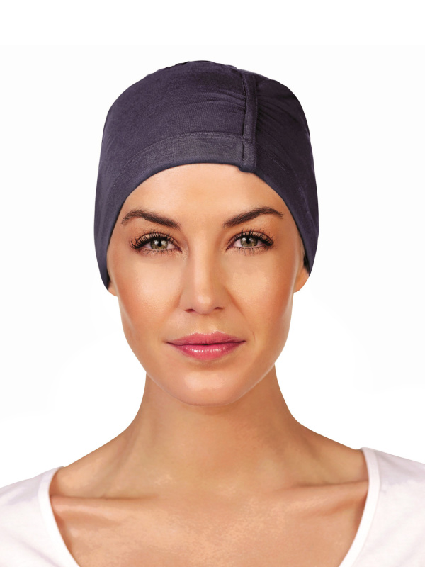 Slaapmutsje Chandra Blauw - chemo muts / alopecia mutsje