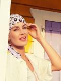 Sjaalmutsje Beatrice - Painted Leo - chemo hoofdbedekking /  alopecia mutsje