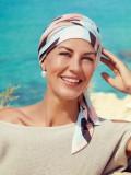 Sjaalmutsje Beatrice - Squares & Angels - chemo hoofdbedekking /  alopecia mutsje