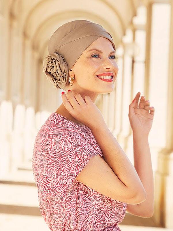 Turban Zuri Taupe - mutsje voor chemo / alopecia muts