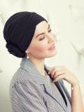 Turban Zuri Zwart - mutsje voor chemo / alopecia muts