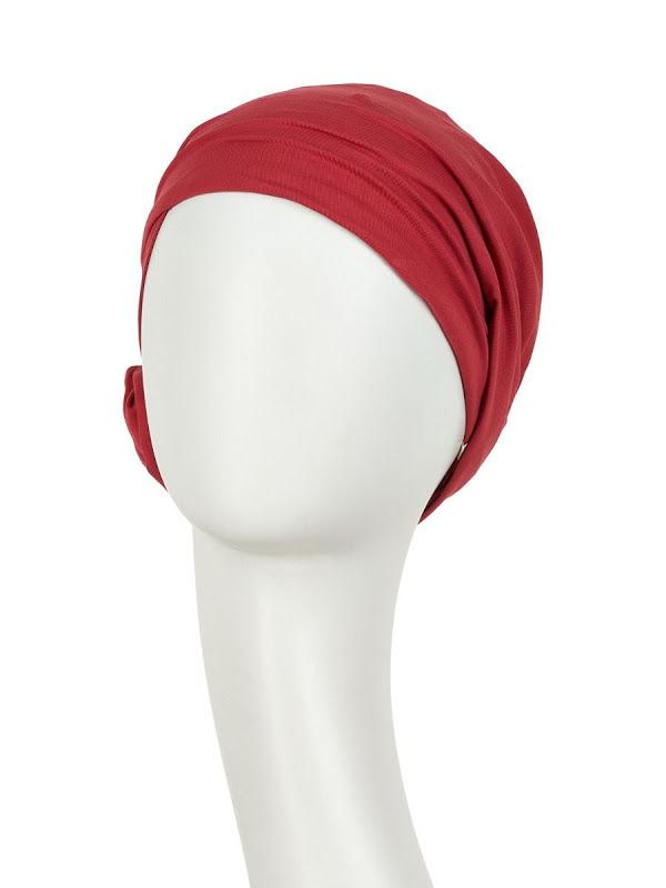 Turban Zuri Rood - chemo mutsjes Christine Headwear Nederland