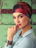 Turban Sapphire Boho Spirit - chemo mutsje / alopecia mutsje