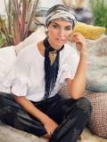 chemo muts /alopecia turban - Turban Boho Spirit Scarlett Tulip & Snake