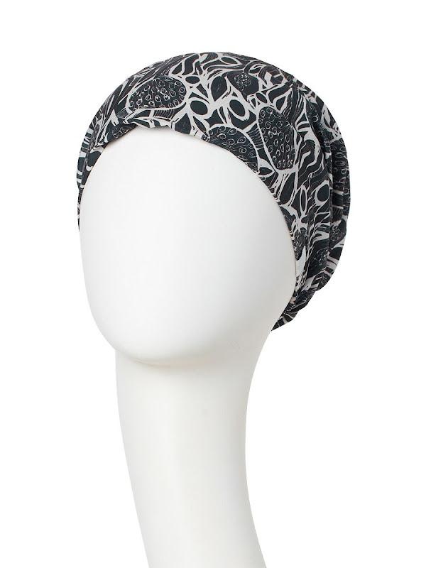 Turban Boho Spirit Scarlett Shiny Floral Woods - chemo mutsje / alopecia turban
