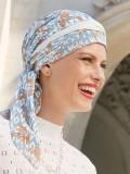 Chemo mutsjes Christine - Sjaalmutsje Beatrice - Ikat Blues - voorgevormd chemo sjaaltje