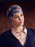 Turban Shakti Flowering Blues - chemo hoofdbedekking / alopecia mutsje