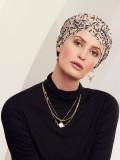 Turban Rosa V Twirls - chemo mutsje / alopecia mutsje