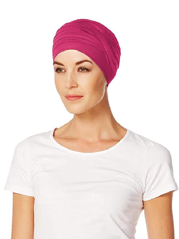 Top Shanti Cerise - chemo muts / alopecia hoofdbedekking