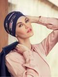 Top Shanti Flowering Blues  - chemo mutsje / alopecia hoofdbedekking