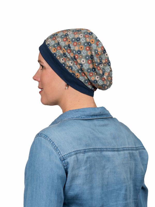 Top Mix Dusty Flowers - chemo mutsje / alopecia mutsje