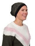 Top Mix Zebra Olive - chemo mutsje / alopecia mutsje