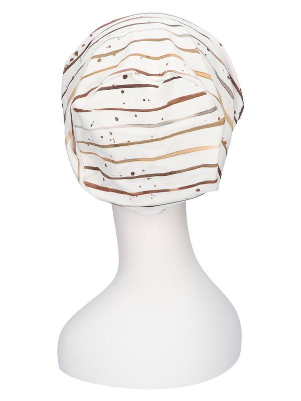Chemo mutsjes winkel Mooihoofd - Top Mix Stripes Taupe - chemo muts