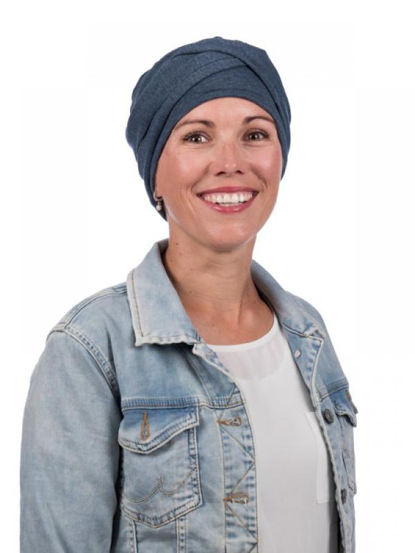 Top PLUS jeans - chemo mutsje / alopecia turban