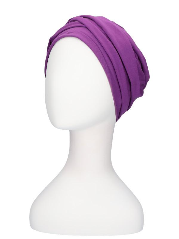 Top PLUS paars - mutsje voor chemo / alopecia