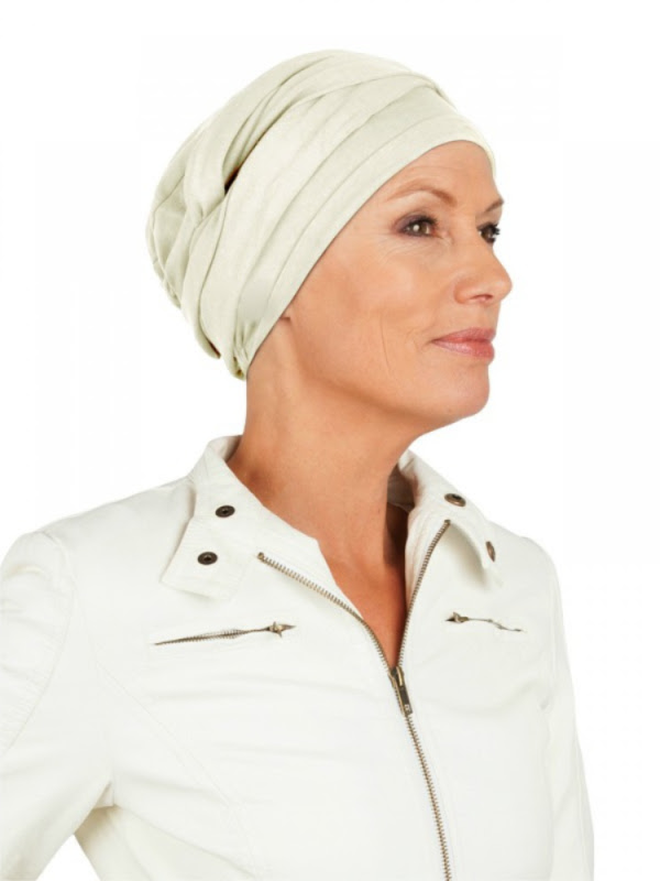 Top PLUS ivoor - chemo mutsjes / alopecia mutsje - Mooi hoofd