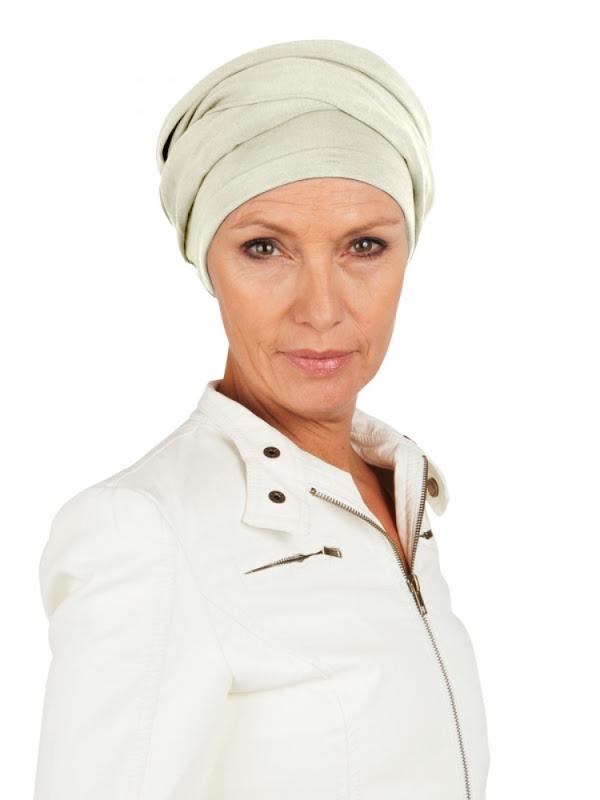 Top PLUS ivoor - chemo mutsje / alopecia mutsje