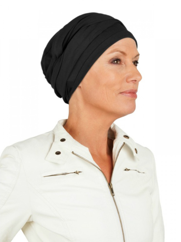 Top PLUS zwart - mutsje voor chemo of alopecia mutsje
