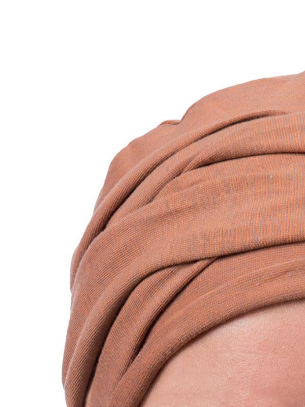 Detail van de Top PLUS brique melee - chemo mutsjes /alopecia mutsje