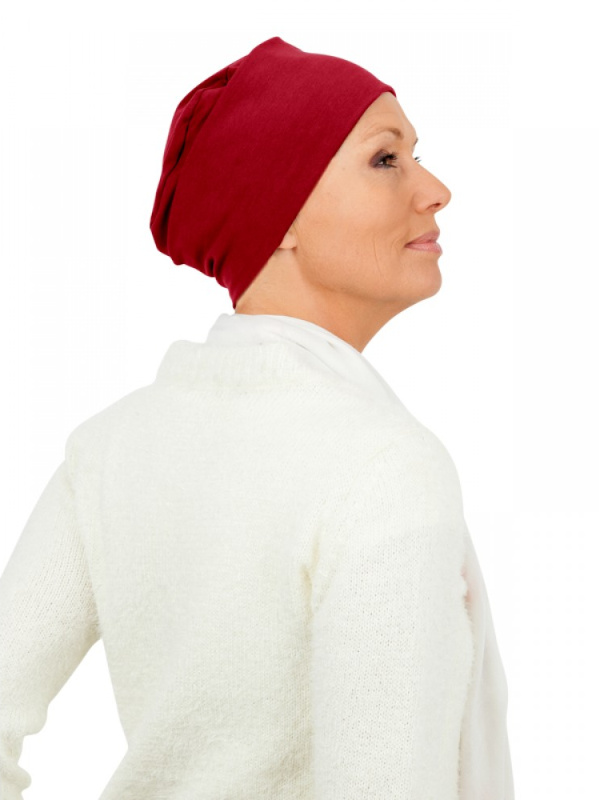 Top Tio rood - chemo mutsje / alopecia mutsje