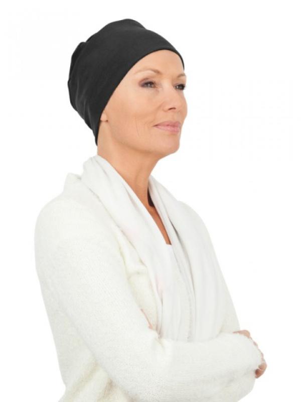 Top Tio zwart - chemo mutsje / alopecia mutsje