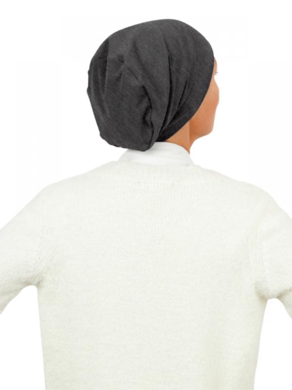 Top Tio Charcoal melee - chemo mutsje / alopecia mutsje