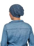 Top Tio Blue Dots - chemo mutsje / alopecia mutsje