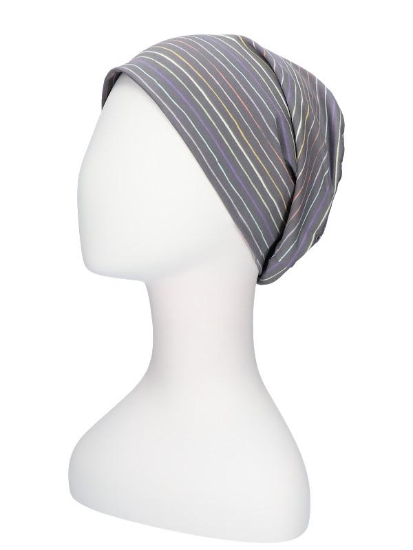 Top Tio Stripes Rainbow - chemo mutsje / alopecia hoofdbedekking
