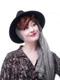 Les Franjynes - krullende pony - Laetitia - haarwerk met chemo hoofdbedekking