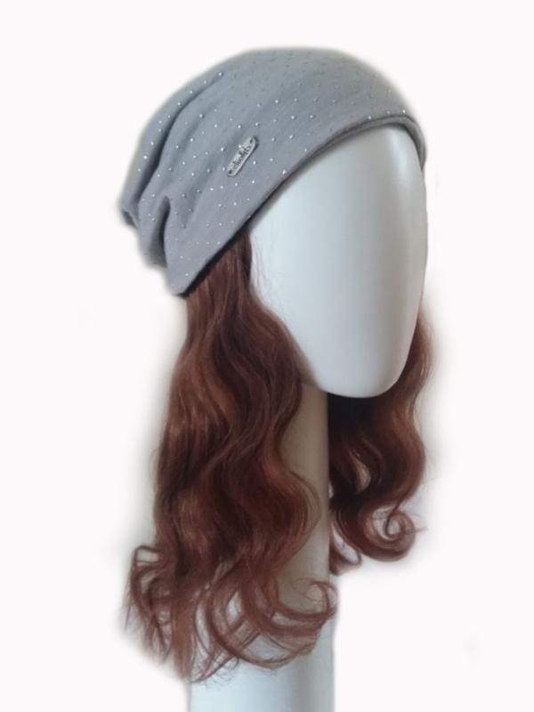 Noëmie donkerblond haarwerk - haarband Toupim - chemo mutsje met haar