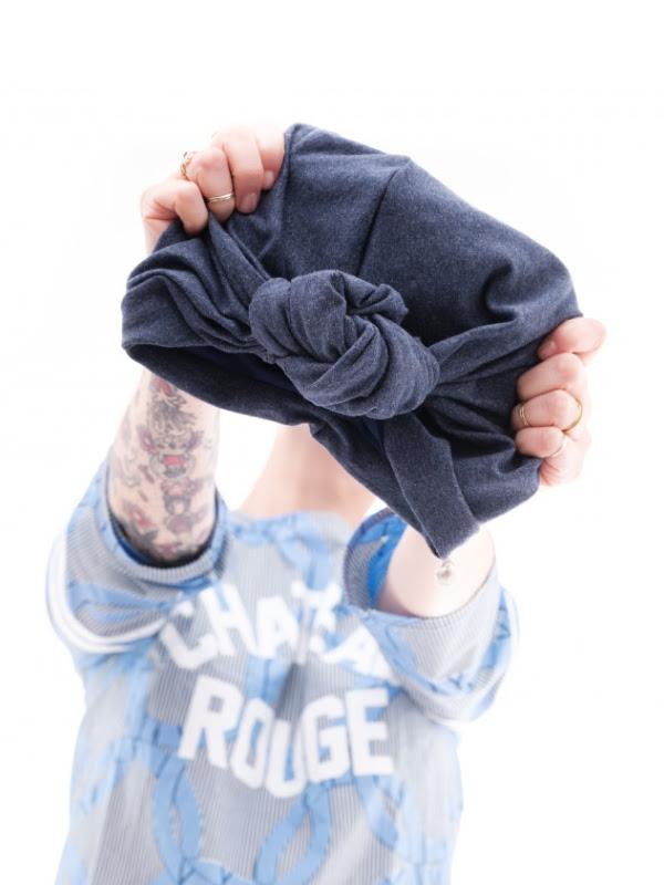 Turban Vintage Jeans - chemo mutsje / alopecia mutsje