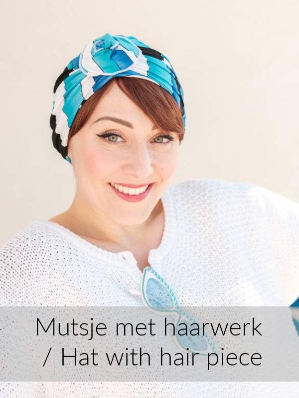 Turban Primavera Pool - chemo mutsje / alopecia mutsje