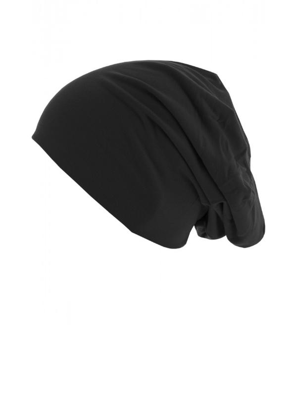 Top beanie  jersey 10285 zwart - chemo mutsje / alopecia mutsje
