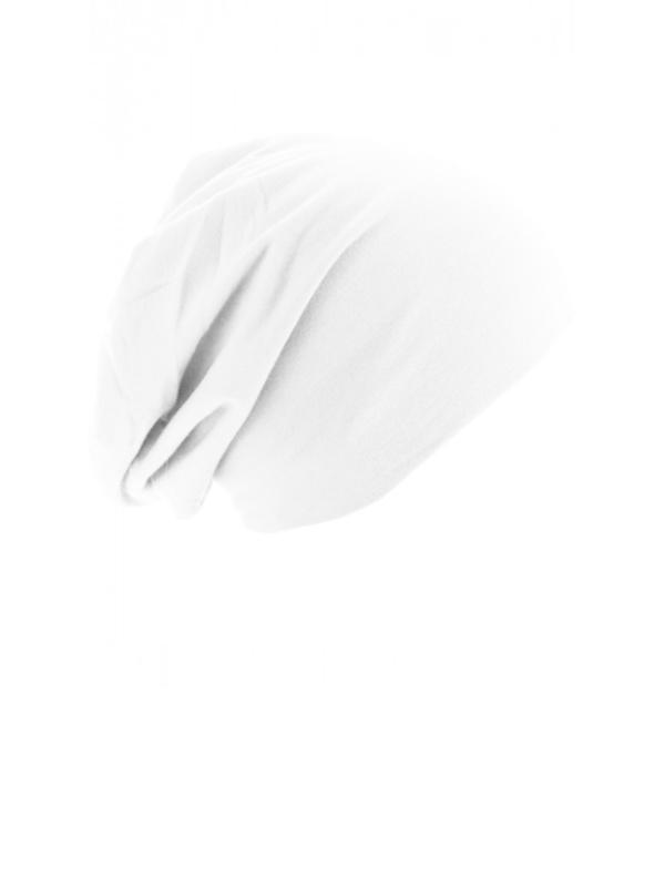 Top beanie  jersey 10285 wit - chemo mutsje / alopecia mutsje