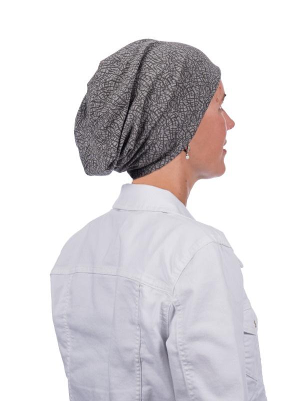 Top crush grijs - chemo mutsje / alopecia mutsje