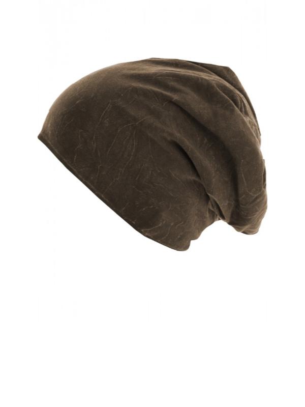 Top stone chocolade bruin - chemo mutsje / alopecia mutsje