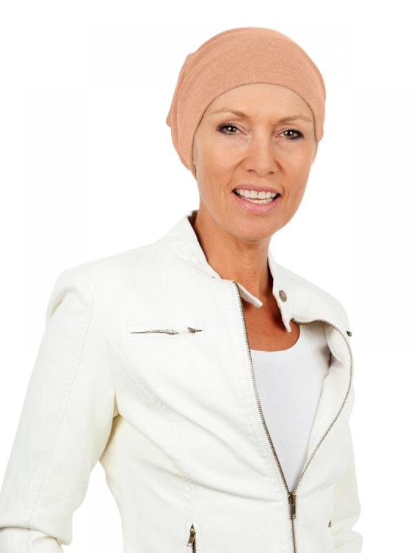 Slaapmutsje Cappuccino - chemo mutsje / alopecia mutsje