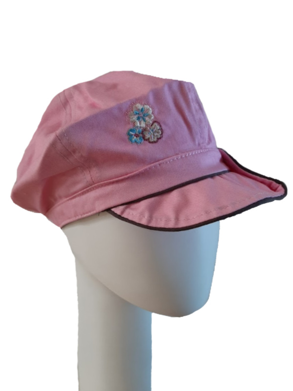 Kids Pet bakerboy Button pink and brown