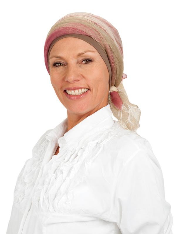 Sjaal-band rosa - chemo sjaal of alopecia sjaal