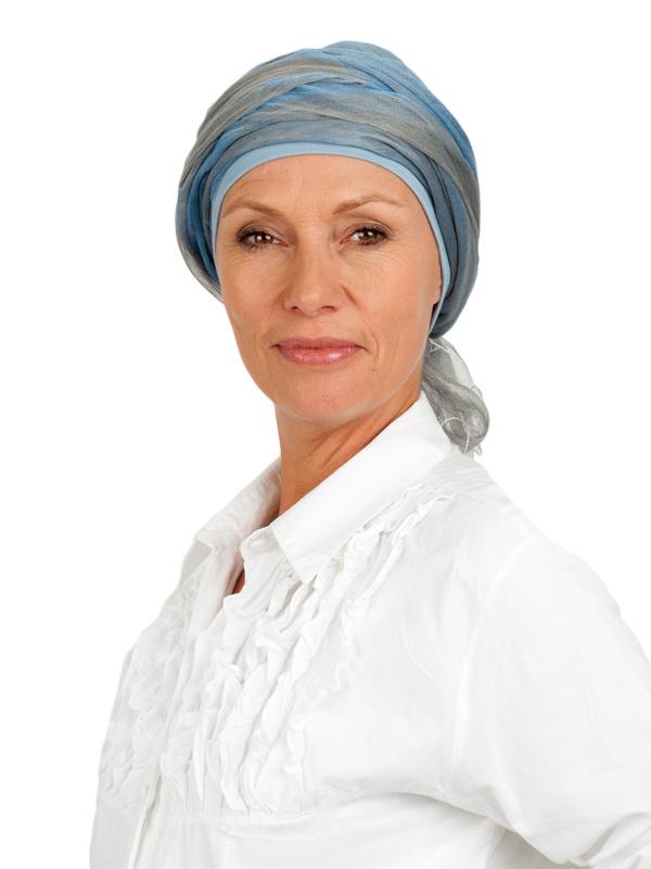 Sjaal-band blue - chemo hoofddoek / alopecia sjaal