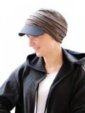 Pet Diane Brown/Black - chemo mutsje / alopecia mutsje