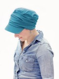 Chemo mutsjes Lookhatme - Pet Diane Petrol - chemo pet / alopecia pet