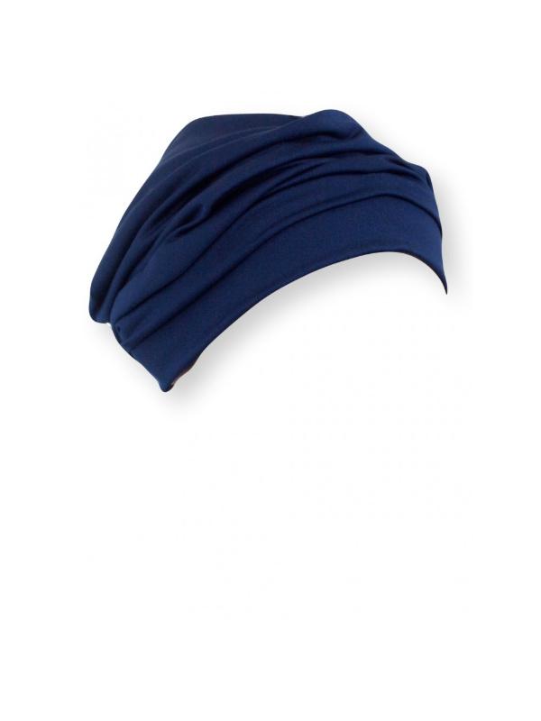 Comfortabel mutsje Iris Navy - chemo mutsje / alopecia mutsje
