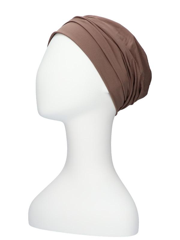 Comfortabel mutsje Iris taupe - chemo muts / alopecia mutsje