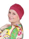 Comfortabel mutsje Iris framboise - chemotherapie mutsje / alopecia mutsje